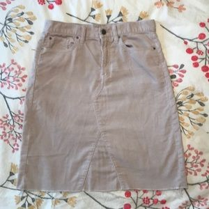 Gap light tan khaki corduroy skirt sz. 27